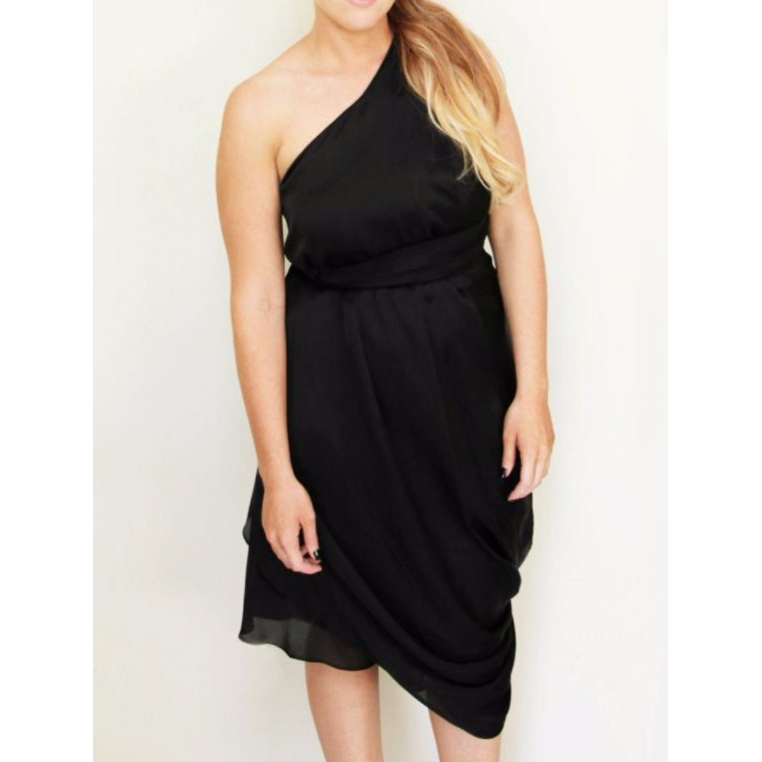 Bianca Spender, 100% Silk Black Dress. 8