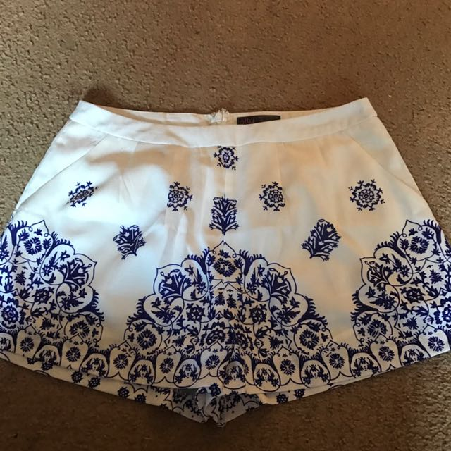 Blue and white shorts size 12