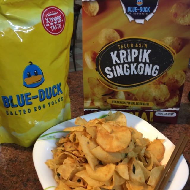 Blue Duck keripik singkong telur asin