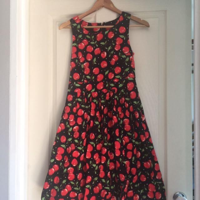 Bnwot cherry print dress
