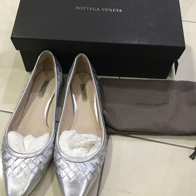 Bottega Veneta silver shoes