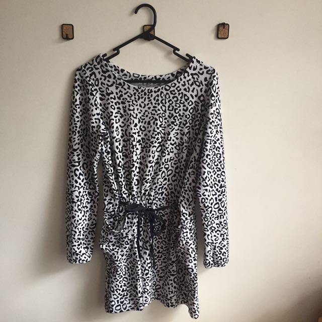 B&W Animal Spots Dress