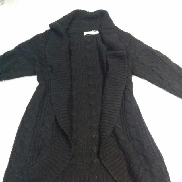 Cocolatte Black Knit Cardigan