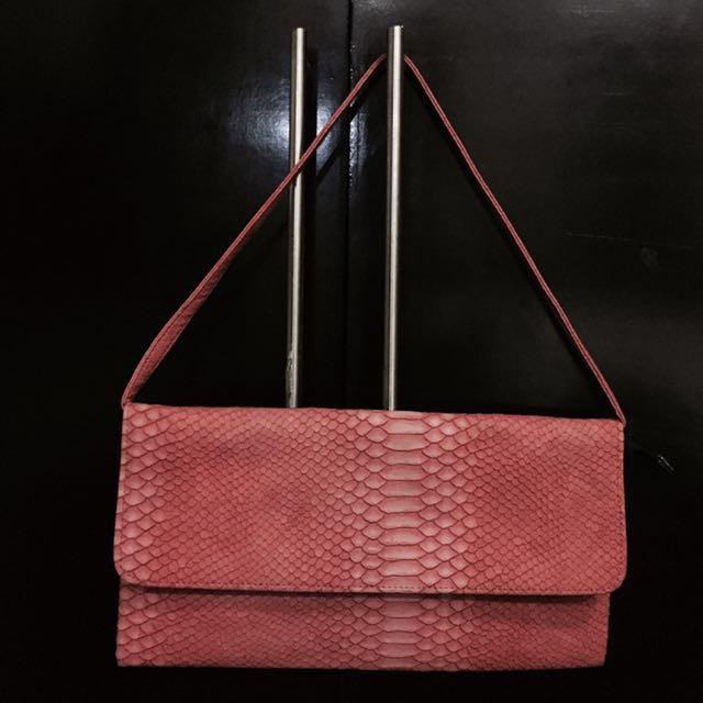 Coral-colored Shoulder Bag