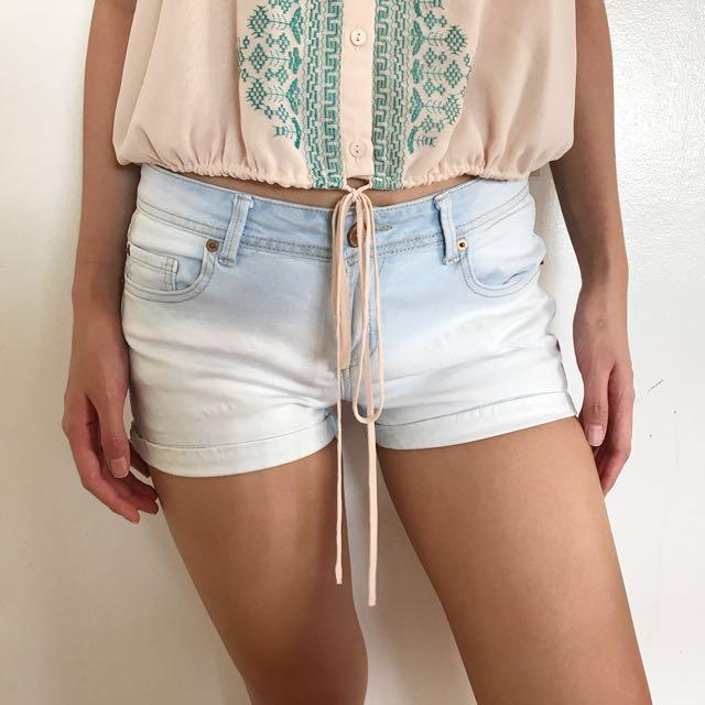 Cotton On Light-washed Denim Shorts