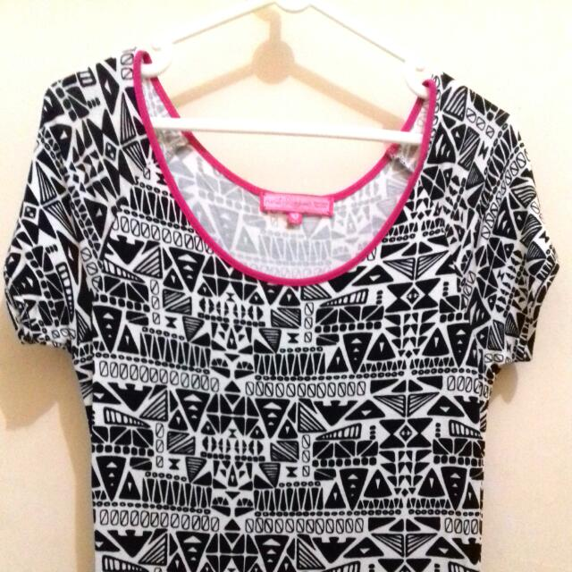 Dress Monochrome Tribal Ninty Degrees
