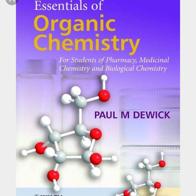 Essentials of organic chem dewick