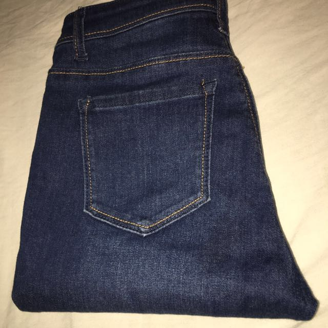 Fashion Nova Dark Blue Jeans Size 3
