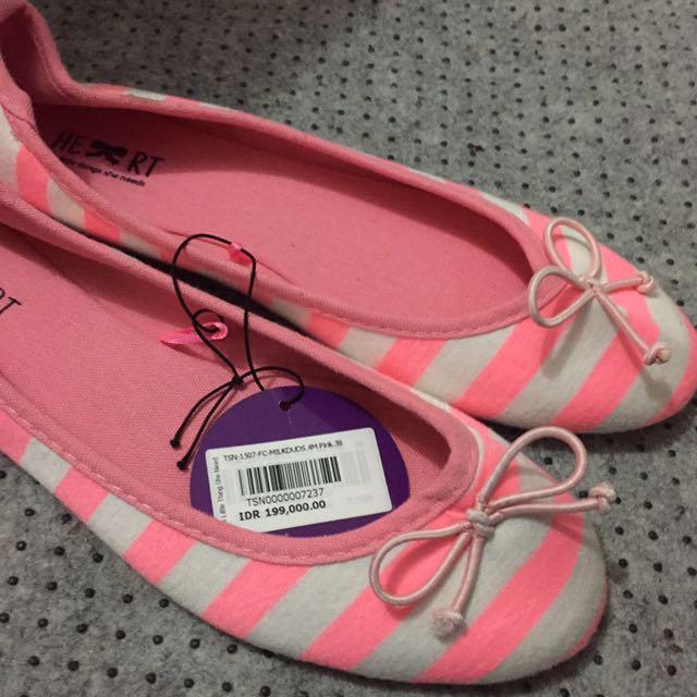 Flatshoes TLTSN stripes pink white size38