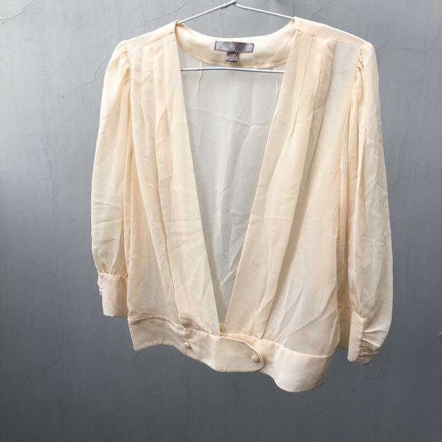 Forever 21 creme top outer blouse