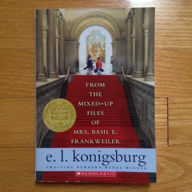 From the Mixed-Up Files of Mrs. Basil E. Frankweiler by E. L. Konigsburg Children Book/Novel