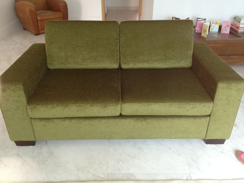 Green Olive Velvet Sofa