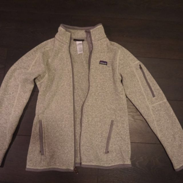 Grey Patagonia Zip Up Jacket Size Small