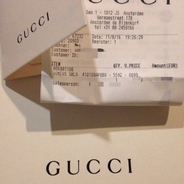 df682409111 Gucci Brand New Contrast leather wrist wallet