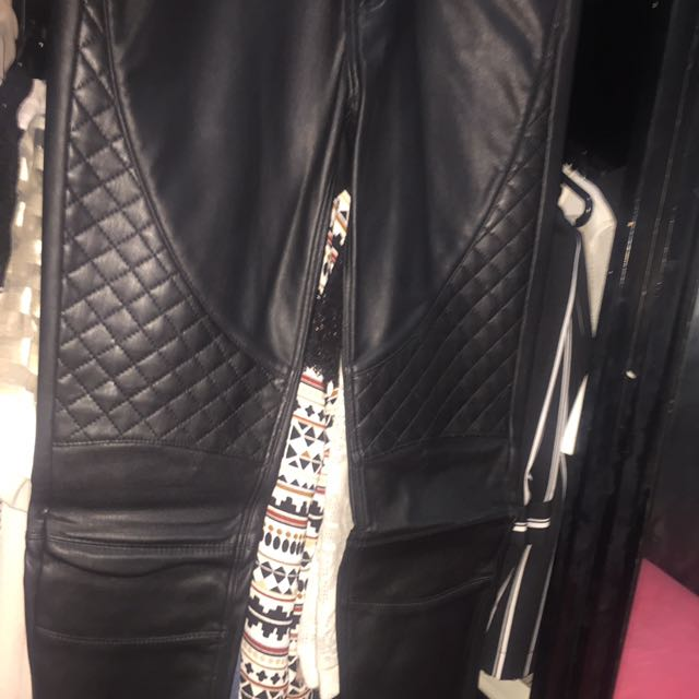 H&M leather biker pants ( balmain look alike )