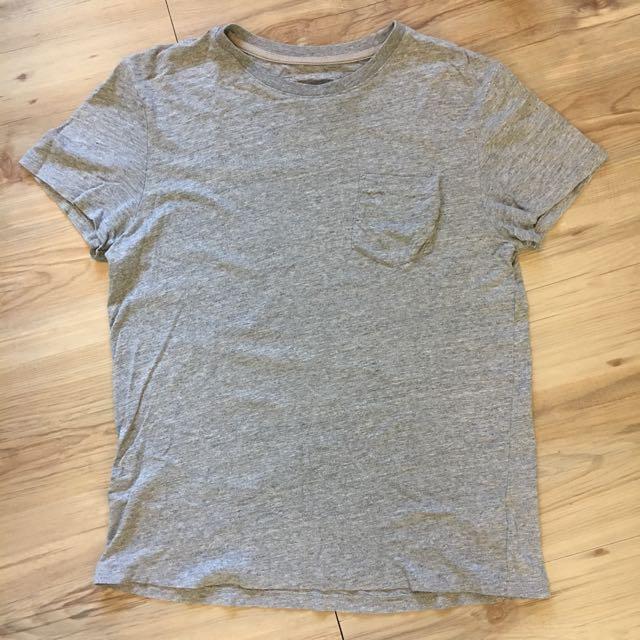 H&M/男生短灰口袋T