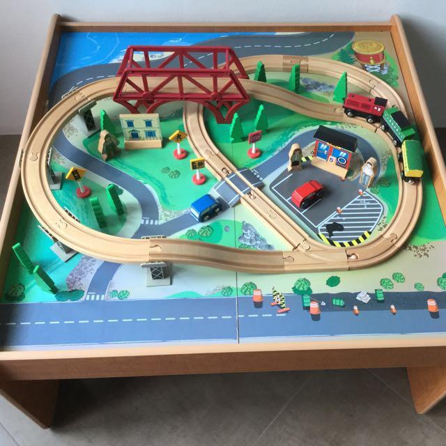 Superbe Imaginarium Train Set With Table   55 Pieces, Babies U0026 Kids, Toys U0026 Walkers  On Carousell