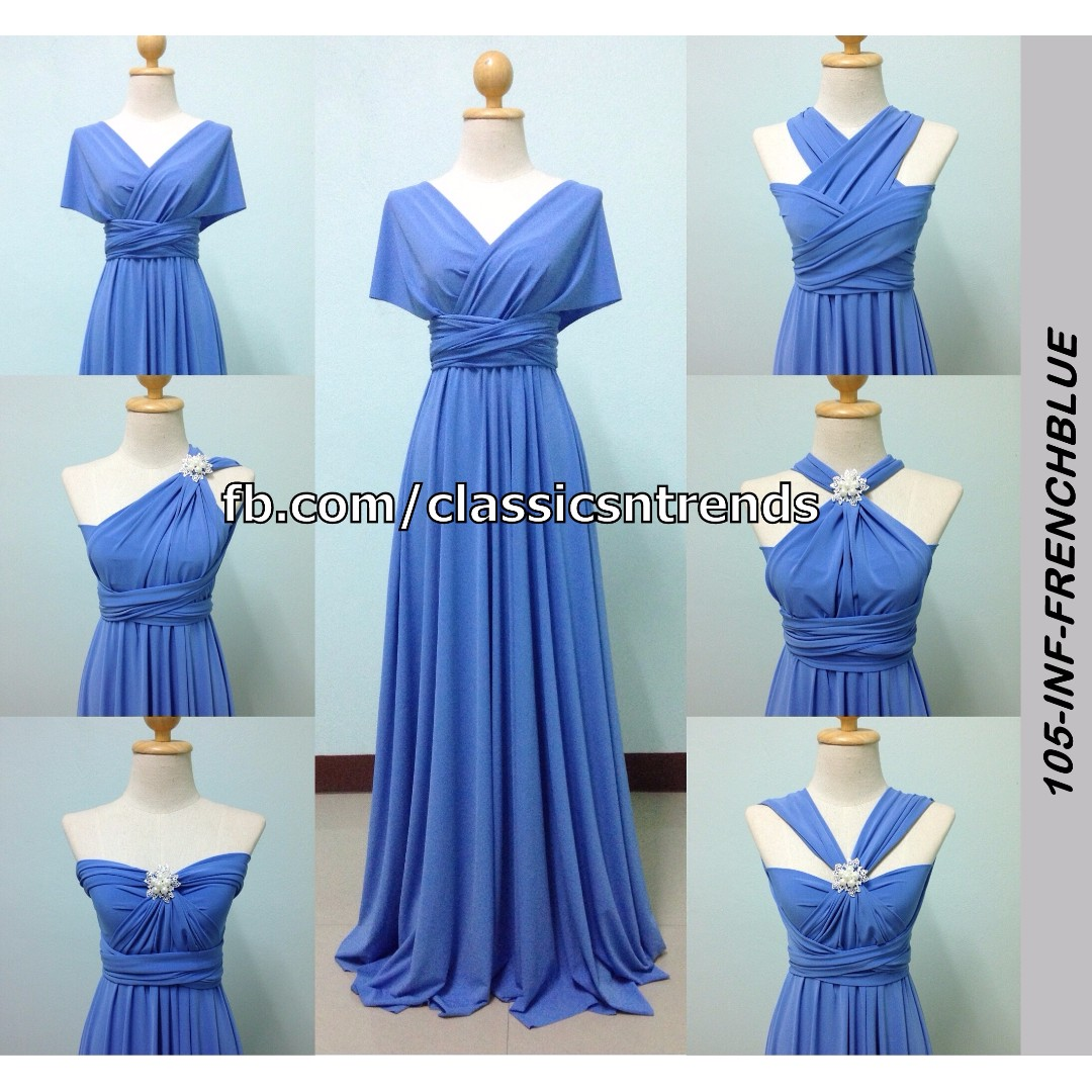 FREE SHIPPING! Bridesmaid Infinity Dress in French Blue, Online Shop ...
