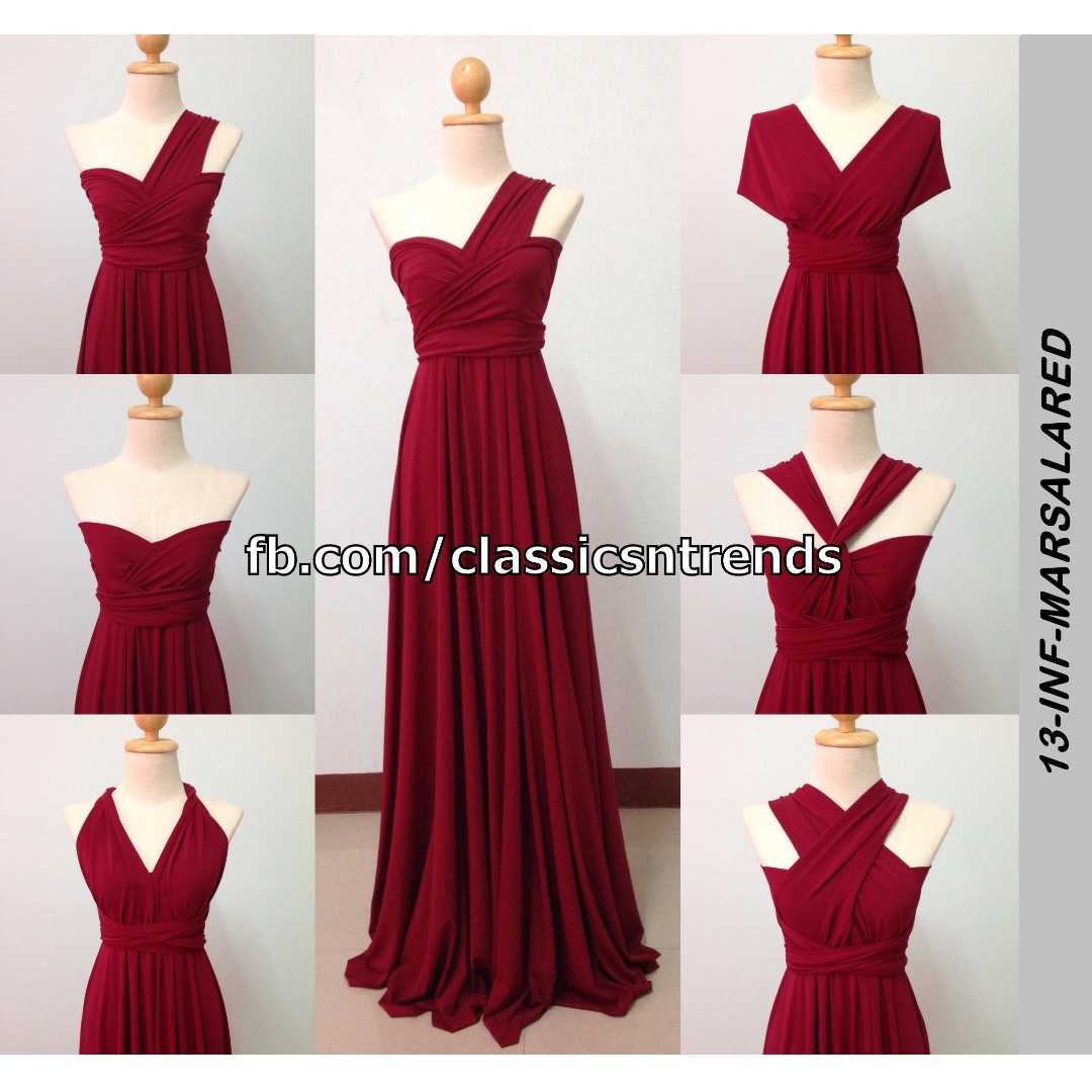 Bridesmaid Infinity Dress In Marsala Red Online Preorder Women S Fashion On Carou