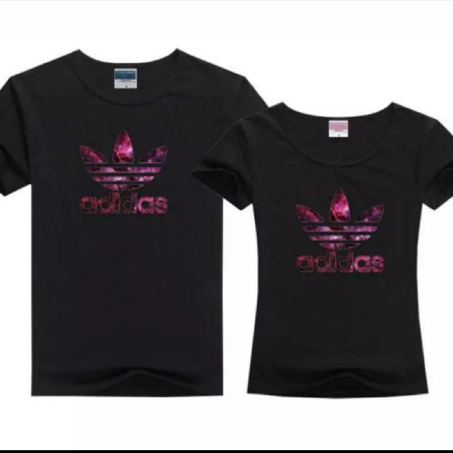 fba84fc45a6 INSTOCK Couple Adidas Logo T-shirts, Women's Fashion, Clothes, Tops ...