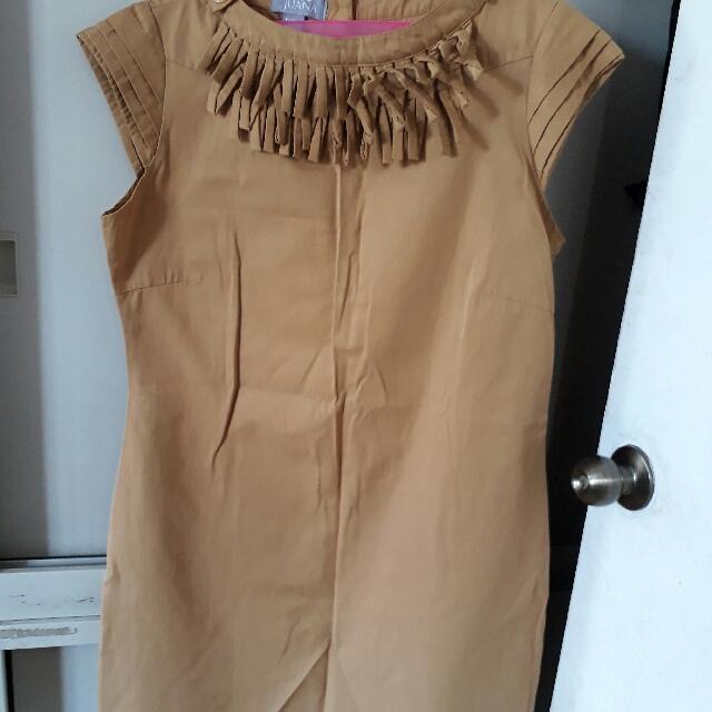 Juana dress mustard color