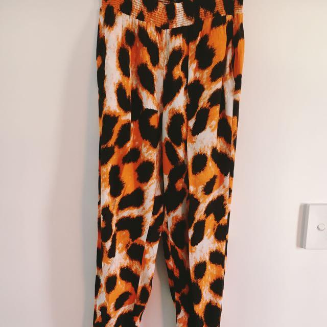 Leopard Funk Pants