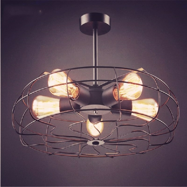 大人氣!最潮LOFT工業電風扇燈