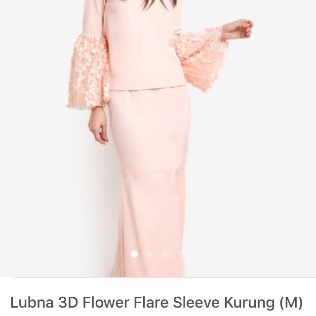 Lubna 3D Flower Bell Sleeves Kurung