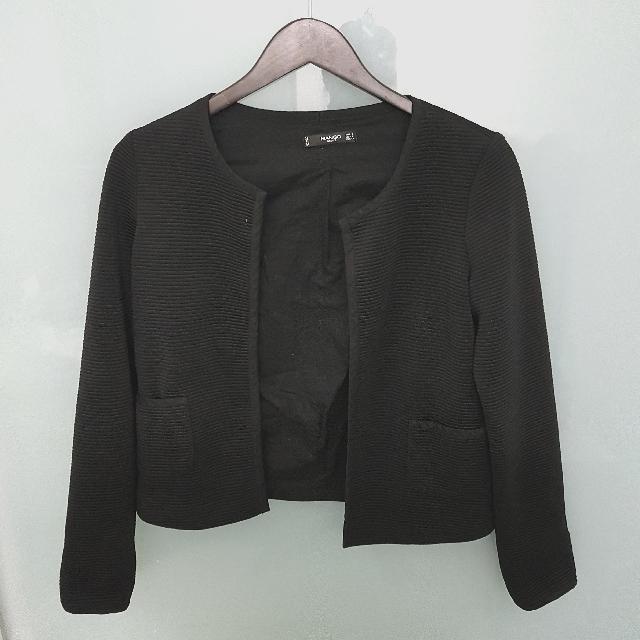 Mango cropped jacket/cardigan small