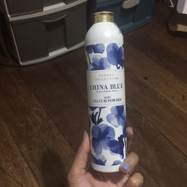 Marks & Spencer China blue Talcum powder
