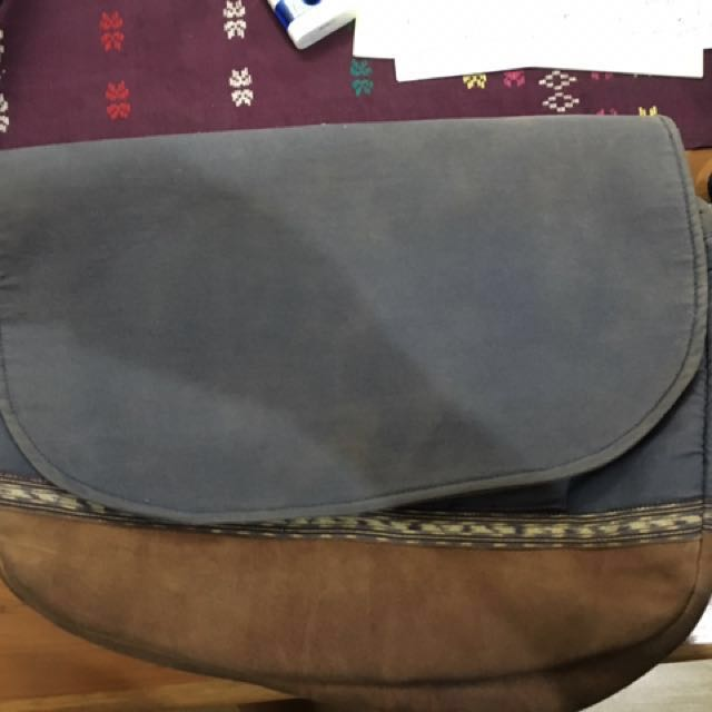 Messenger Bag Kulit asli