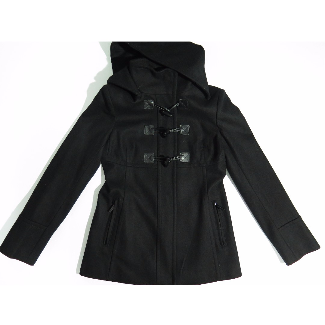 Michael Kors Black Toggle Pea Coat Sz XS