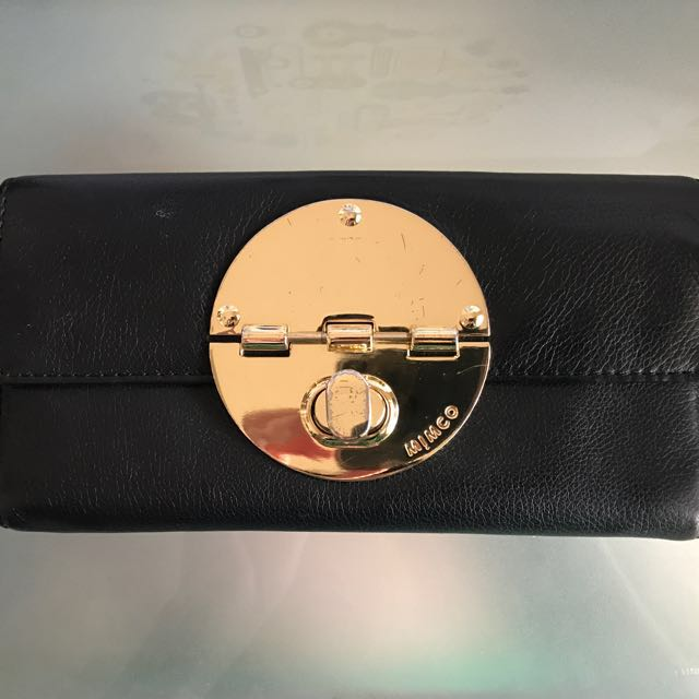 Mimco Turnlock Wallet Gold