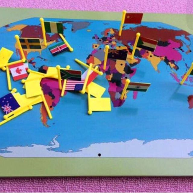 Montessori world map with flags babies kids toys walkers on photo photo photo photo gumiabroncs Images