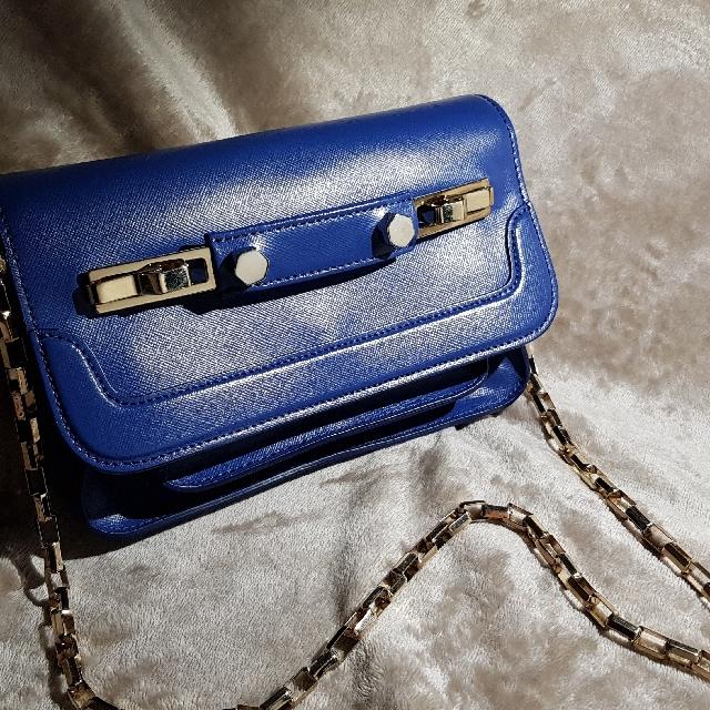 MSGM Clutch / Shoulders bag Royal blue