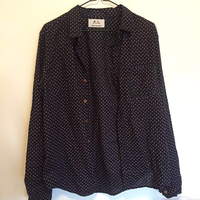 Navy patterned shirt