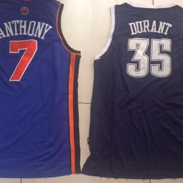 low priced 8e306 3650c NBA jersey Carmelo Anthony(Knicks) and KD(OKC) on Carousell