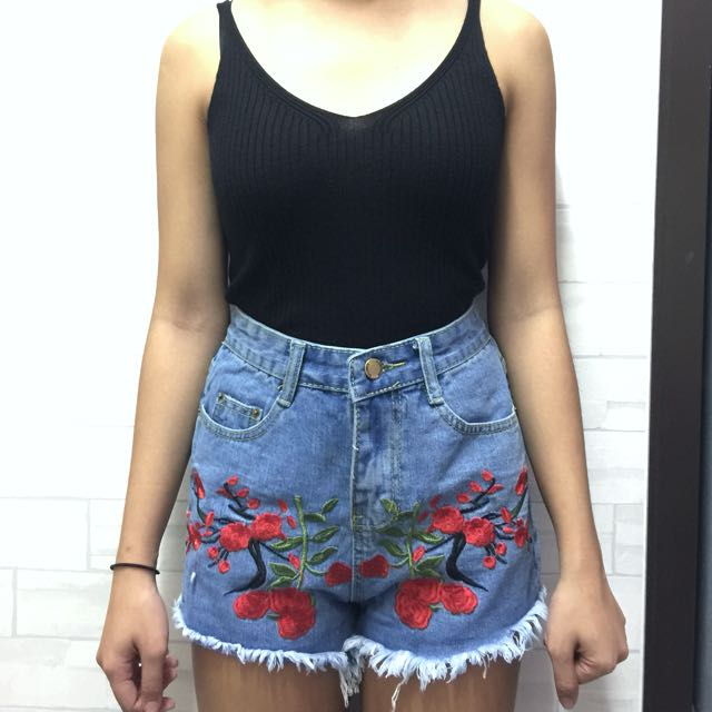 New! Embroidered Shorts