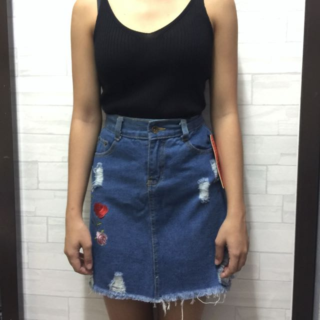 New! Embroidered Skirt
