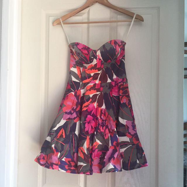 Paint it red bustier dress