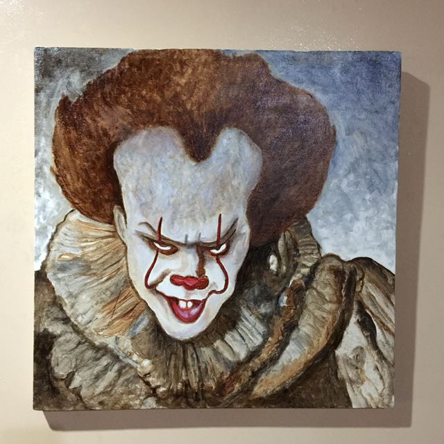 Pennywise. Oil on canvas. 24x24 inches.