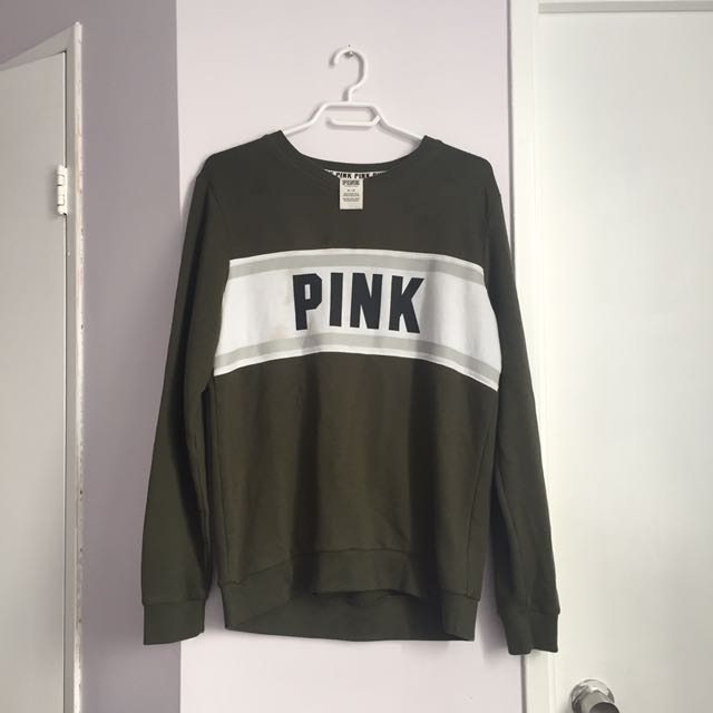 PINK Olive Sweatshirt (M)