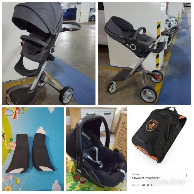 Uitgelezene Preloved Stokke Xplory, Pram pack, Maxi Cosi Pebble And Carseat YS-05