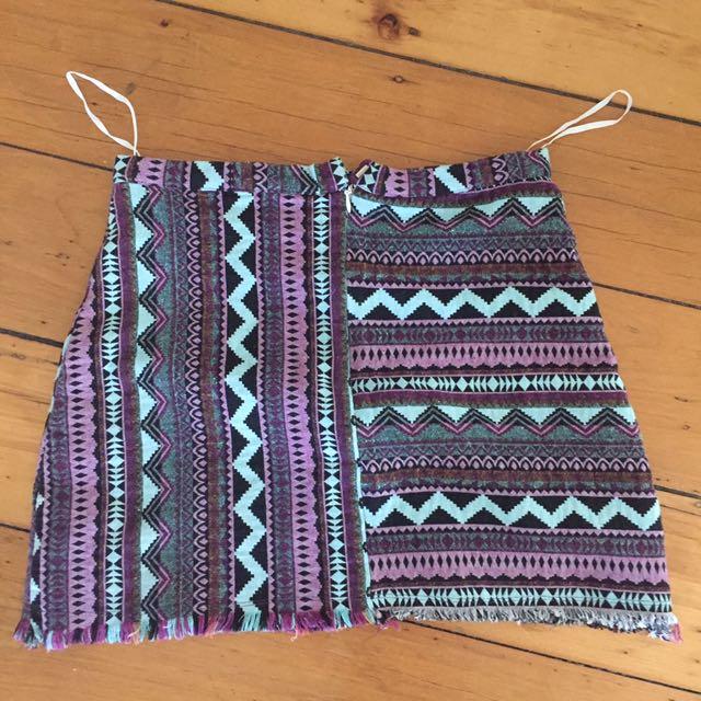 Purple black blue skirt