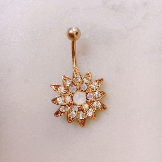 Rose Belly Ring