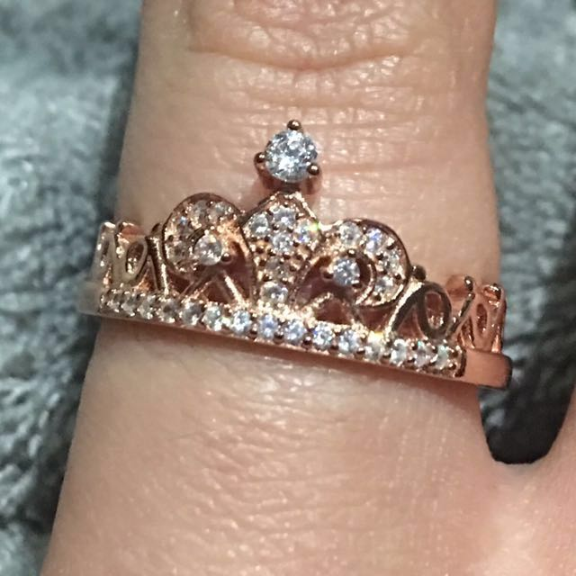 Rose gold crown ring-9