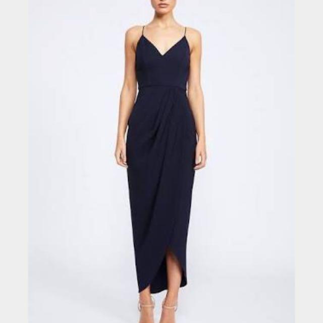 Shona Joy Core Cocktail Dress - navy Size 6