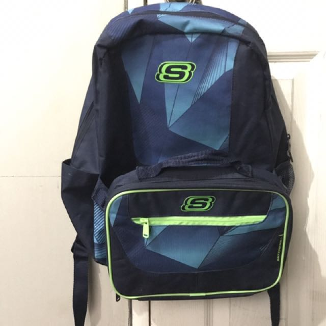Skechers speedway backpack and lunchbox set