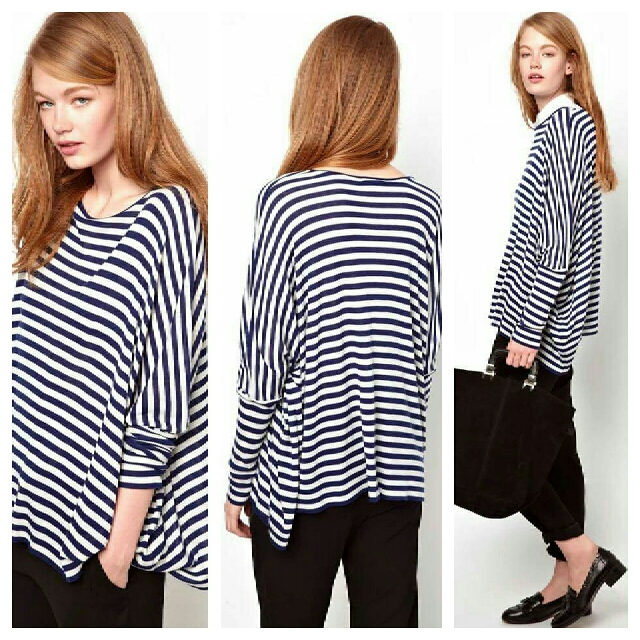 Stripe Cotton Blouse