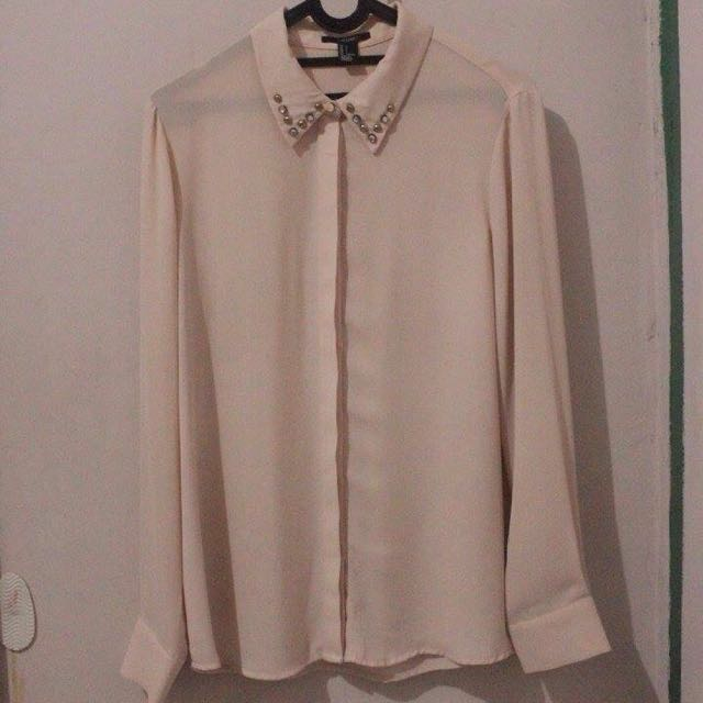 Studded blouse f21